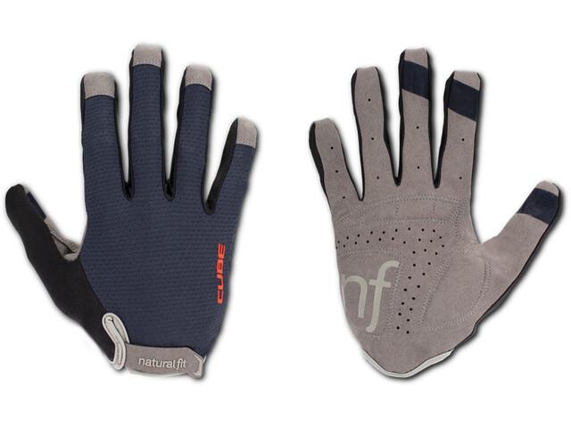 Cube Natural Fit WS X Langfinger Handschuhe Damen blue'n'black